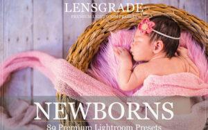 دانلود 89 پریست لایت روم تنظیم رنگ عکس کودک Lightroom Presets for Newborn And Baby