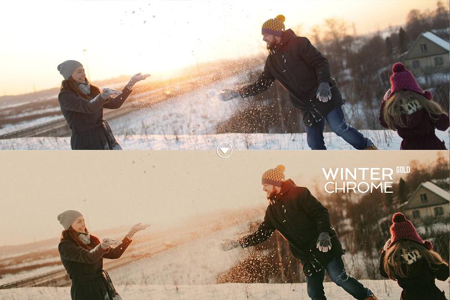 پریست لایت روم و Camera Raw تم زمستان Winterchrome Presets for LR And Camera Raw