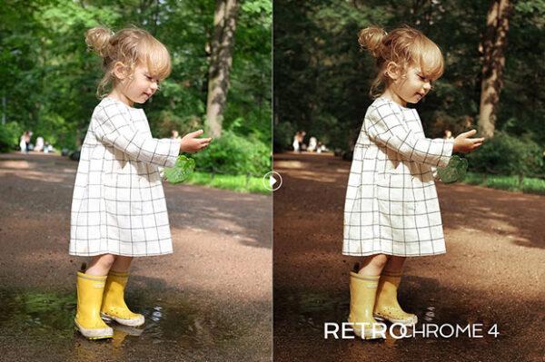 دانلود پریست لایت روم تم رنگی زرد و قهوه ای Retrochrome Lightroom Preset Pack