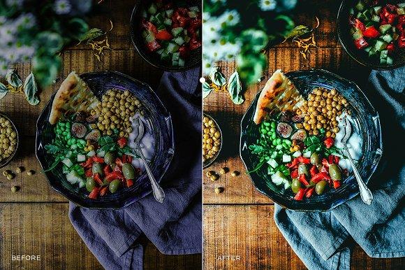 دانلود 126 پریست لایت روم تم رنگی مواد غذایی Food Lightroom Presets
