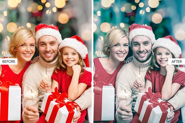 دانلود 10 پریست رنگی لایت روم کریسمس Christmas Lightroom Presets
