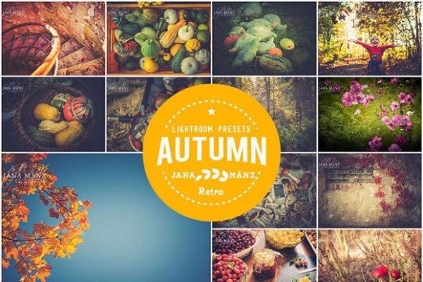 دانلود 10 پریست لایتروم با افکت فصل پاییز Autumn Vintage Lightroom Presets