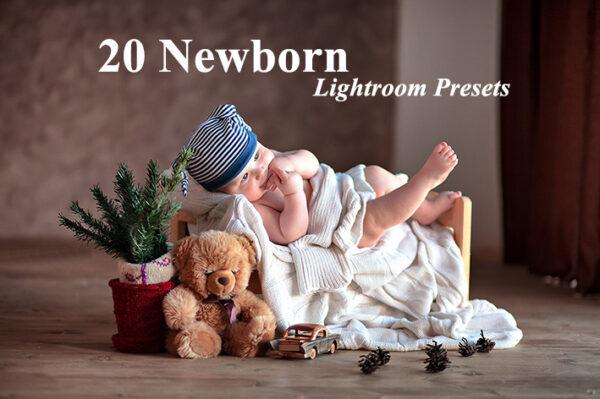 دانلود 20 پریست لایت روم آتلیه نوزاد Newborn Lightroom Presets