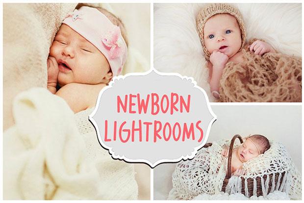 دانلود 30 پریست لایت روم نوزاد و کودک Newborn Lightroom Presets