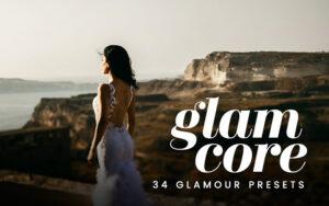 دانلود 34 پریست لایت روم تم رنگ فریبنده Glam Core Lightroom Presets