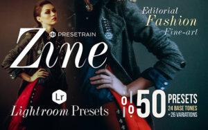 دانلود 50 پریست لایت روم مد و فشن Zine 50 Fashion Lightroom Presets