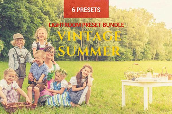 دانلود 6 پریست لایت روم تابستان Summer Vintage Lightroom Presets