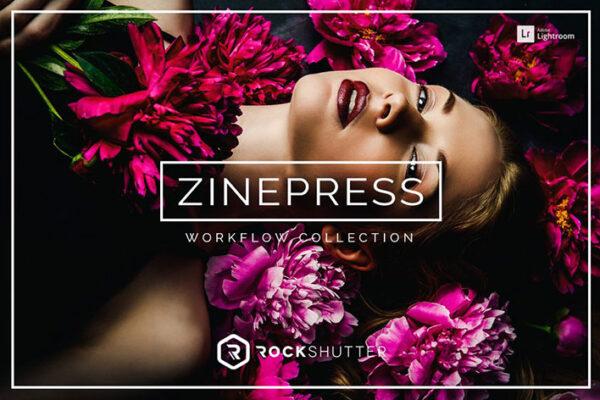 دانلود 65 پریست لایت روم تم رنگ مجله Zinepress Lightroom Presets