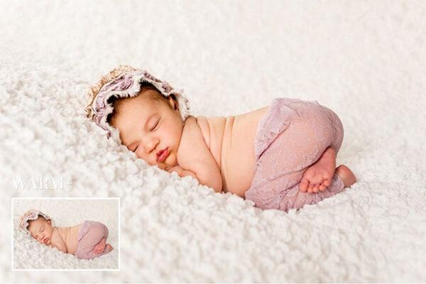 دانلود 89 عدد پریست لایت روم بینظیر و حرفه ای بنام Newborn Lightroom Presets مخصوص کودک و نوزاد