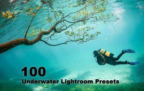 100 پریست لایت روم طبیعت زیر آب Underwater Lightroom Presets