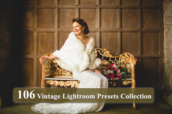 106 پریست آماده لایت روم تم رنگ قدیمی Vintage Lightroom Presets Collection