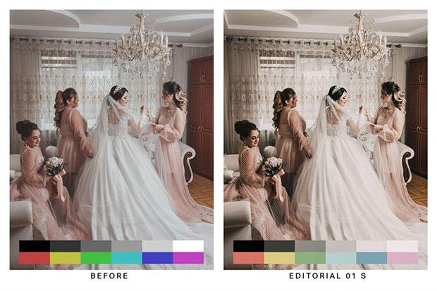 35 پریست لایت روم عروسی تم عروس زیبا Beautiful Brides Lightroom Presets
