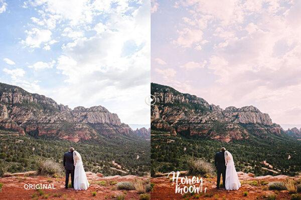 4 پکیج پریست حرفه ای اصلاح رنگ عروسی (فتوشاپ و لایت روم)
