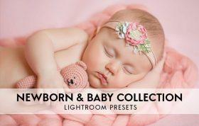 دانلود 10 پریست لایت روم آتلیه نوزاد Newborn Lightroom Presets