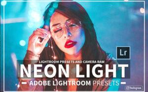 15 پریست لایت روم و کمرا راو نور نئون Neon Light Lightroom Presets