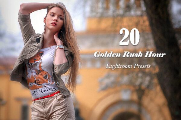 20 پریست لایت روم تم لحظات طلایی Golden Rush Hour Lightroom Presets