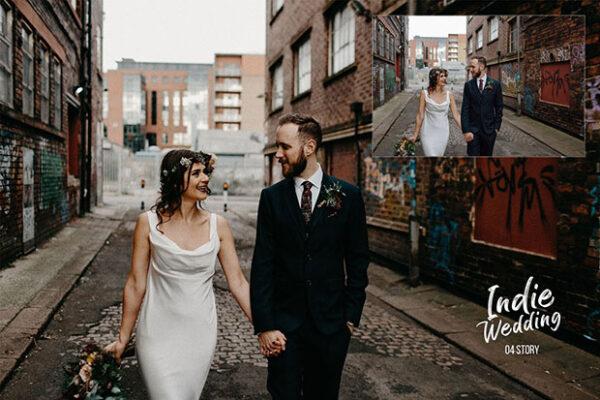 32 پریست لایت روم تنظیم رنگ عکس عروسی Indie Wedding Presets