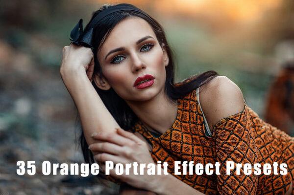 35 پریست لایتروم مخصوص عکس پرتره Orange Portrait Effect Presets