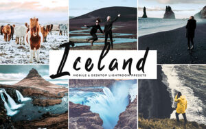 34 پریست لایت روم و کمرا راو تم جزیره ایسلند Iceland Mobile And Desktop Lightroom Presets