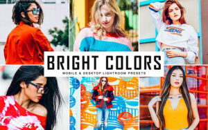 34 پریست لایت روم و کمرا راو تم رنگ روشن Bright Colors Mobile And Desktop Lightroom Presets