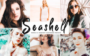 34 پریست لایت روم و کمرا راو تم رنگ صدف Seashell Mobile And Desktop Lightroom Presets