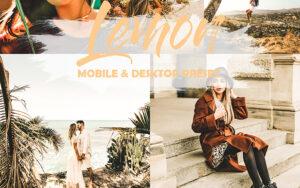 5 پریست لایت روم موبایل تم لیمویی روشن Light Lemon Mobile and Desktop Presets