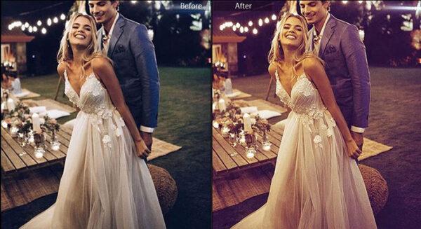11 پریست لایت روم حرفه ای عروسی Elegant Lightroom Wedding Presets