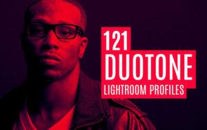 121 پریست حرفه ای لایت روم و کمرا راو تم تک رنگ Duotone Lightroom Profiles