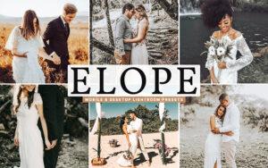 40 پریست لایت روم و Camera Raw و اکشن فتوشاپ تم عاشقانه Elope Mobile & Desktop Lightroom Presets