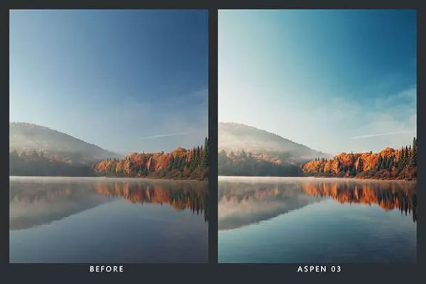 پریست لایت روم و پریست کمرا راو و لات رنگی پاییز Autumn Lightroom Presets & LUTs