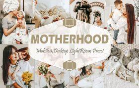 پریست لایت روم حرفه ای مادر و کودک Motherhood Lightroom Presets mom blogger