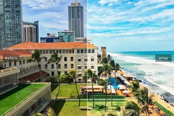 ۴۰ پریست لایت روم و پریست کمرا راو و اکشن فتوشاپ تم کلمبو پایتخت سریلانکا Colombo Pro Lightroom Presets