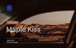 10 پریست لایت روم دسکتاپ و موبایل تم بوسه طلایی Maple Kiss Lightroom Presets