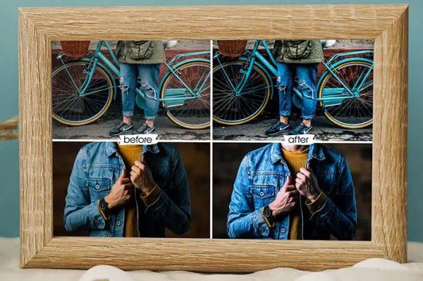 30 پریست اصلاح رنگ آبی Sweet Denim Lightroom Presets