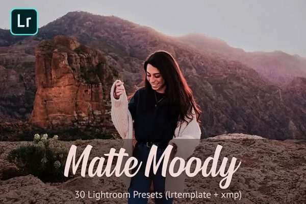 30 پریست آماده لایتروم و براش با افکت های سینمایی Matte Moody Presets Lightroom