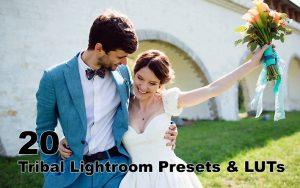 پریست های عروسی حرفه ای لایت روم و پریست کمرا راو و لات رنگی Tribal Lightroom Presets & LUTs