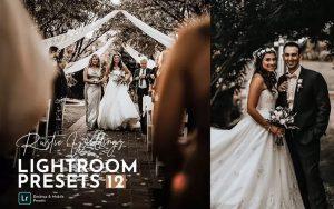 20 پریست لایت روم حرفه ای تم عروسی روستایی Rustic Wedding Lightroom Preset Pack