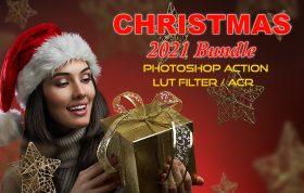 کریسمس ۲۰۲۱ پکیج اکشن فتوشاپ و لات رنگی و پریست کمرا راو فتوشاپ Photoshop Actions, ACR, LUT Presets