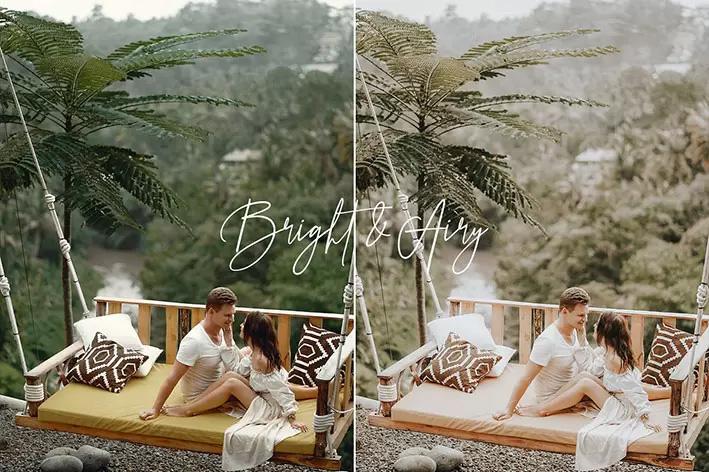 ۱۰ پریست لایت روم حرفه ای تم عروس رویایی Bright Airy Wedding Preset Pack