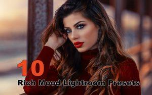 ۱۰ پریست لایت روم حرفه ای دسکتاپ تم رنگ غنی Rich Mood Lightroom Presets