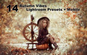 ۱۴ پریست لایت روم حرفه ای تم پاییز Autumn Vibes Lightroom Presets + Mobile (1)