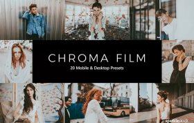 ۲۰ پریست لایت روم سینمایی و پریست کمرا راو و LUT رنگی Chroma Film LR Presets
