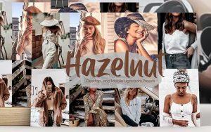 ۲۴ پریست رنگی لایت روم حرفه ای تم رنگ فندق Hazelnut Lightroom Presets
