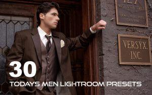 ۳۰ پریست لایت روم حرفه ای تم فشن مردانه Todays Men Lightroom Presets