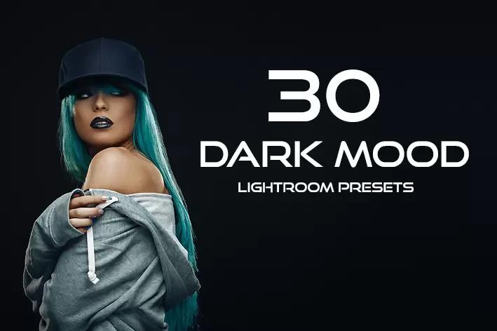 ۳۰ پریست لایت روم حرفه ای مدلینگ تم تیره Dark Mood Lightroom Presets