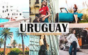 ۴۰ پریست لایت روم و پریست کمرا راو و اکشن فتوشاپ تم اوروگوئه Uruguay Lightroom Presets