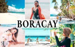 ۴۰ پریست لایت روم و پریست کمرا راو و اکشن فتوشاپ تم بوراکای Boracay Lightroom Presets