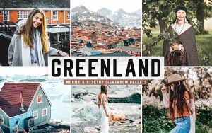 ۴۰ پریست لایت روم و پریست کمرا راو و اکشن فتوشاپ گرینلند دانمارک Greenland Lightroom Presets