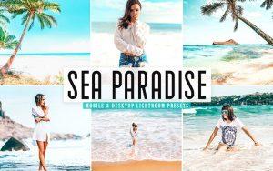 ۴۰ پریست لایت روم و پریست Camera Raw و اکشن فتوشاپ تم بهشت دریا Sea Paradise Pro Lightroom Presets
