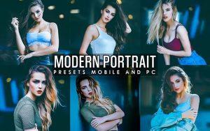 ۱۲ پریست لایت روم پرتره و پریست کمرا راو فتوشاپ Modern Portrait V2 Presets